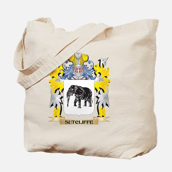 Sutcliffe Family Crest - Coat of Arms Tote Bag