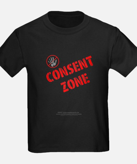 Consent Zone - Children's Dark T-Shirt