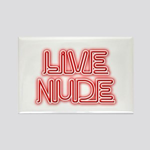 Live Nude Rectangle Magnet