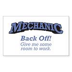 Mechanic / Back Off Sticker (Rectangle)
