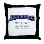 Mechanic / Back Off Throw Pillow