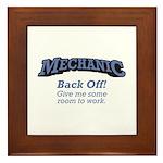 Mechanic / Back Off Framed Tile