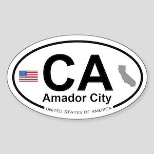 Amador City Sticker (Oval)