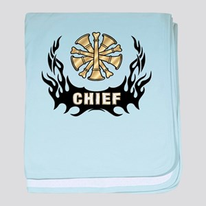 Fire Chief Tattoo Flames baby blanket