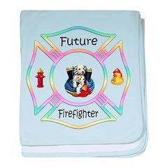 Future Firefighter Pastel baby blanket