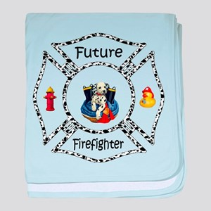 Future Firefighter Dalmatian baby blanket