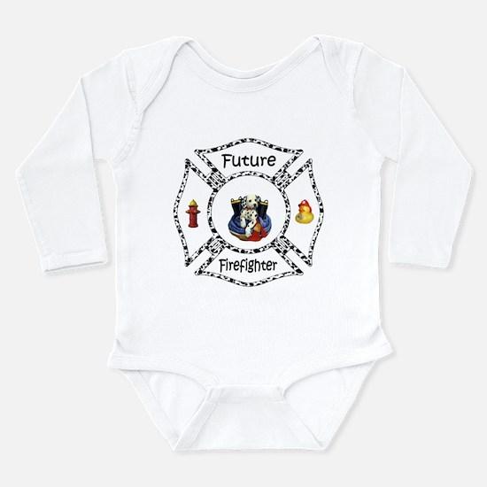 Future Firefighter Dalmatian Long Sleeve Infant Bo