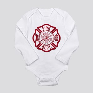Firefighter Baby Long Sleeve Infant Bodysuit
