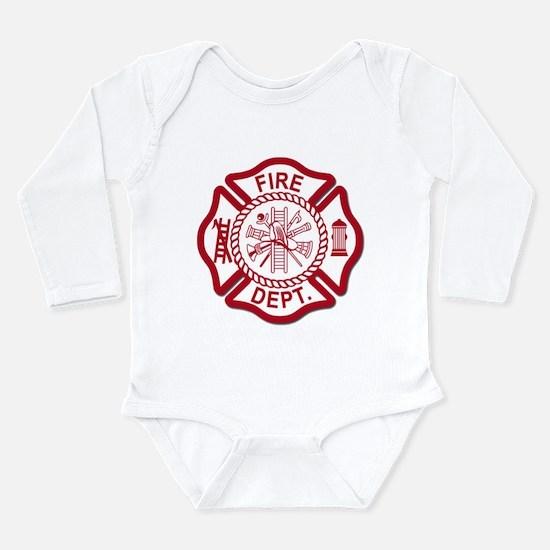 Firefighter Baby Long Sleeve Infant Bodysuit