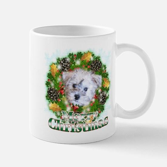 Merry Christmas Schnoodle Mug