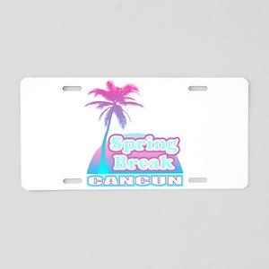 Mexico spring break cancun Aluminum License Plate