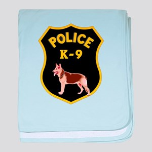 K9 Police Officers baby blanket