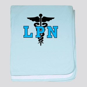 LPN Medical Symbol baby blanket