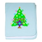 Christmas and Hanukkah Interfaith baby blanket