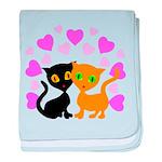 Kitty Cat Love baby blanket
