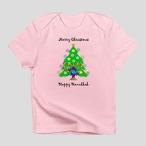 Hanukkah and Christmas Interfaith Infant T-Shirt