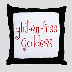 Gluten Free Goddess Throw Pillow