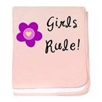 Girls Rule baby blanket