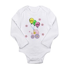 Its A Baby Girl Long Sleeve Infant Bodysuit