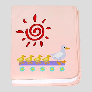Duck Family Walk baby blanket