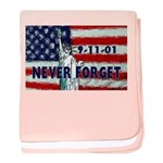 9-11-01 Never Forget baby blanket