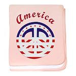 American Peace baby blanket