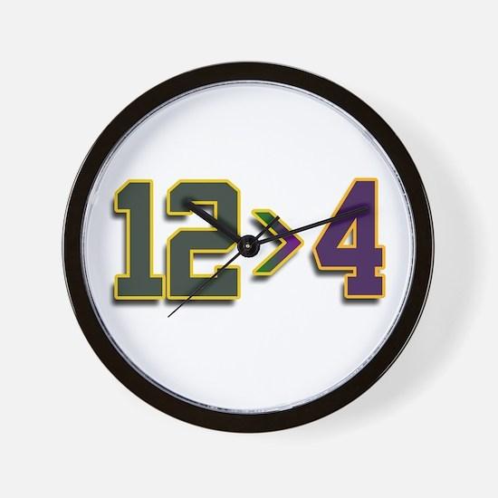 12 > 4 Wall Clock