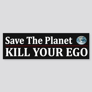 Funny Save Planet ~ Sticker (Bumper)