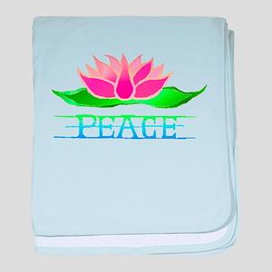 Lotus Blossom baby blanket