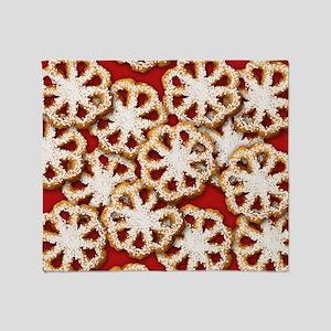 Rosette Christmas Cookies Throw Blanket