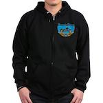Masonic Riders Zip Hoodie (dark)