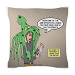 Squid Effects Woven Throw Pillow