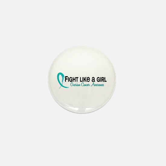 Licensed Fight Like A Girl 6.3 Ovarian Mini Button