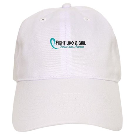 Licensed Fight Like A Girl 6.3 Ovarian Cancer Cap
