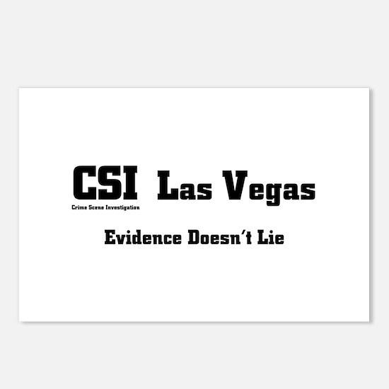 CSI Las Vegas Evidence Doesn' Postcards (Package o