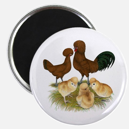 "Red Polish Chickens 2.25"" Magnet (10 pack)"