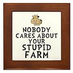 Stupid Farm - Cow Framed Tile