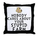 Stupid Farm - Cow Throw Pillow