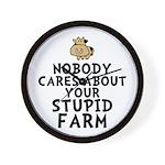 Stupid Farm - Cow Wall Clock