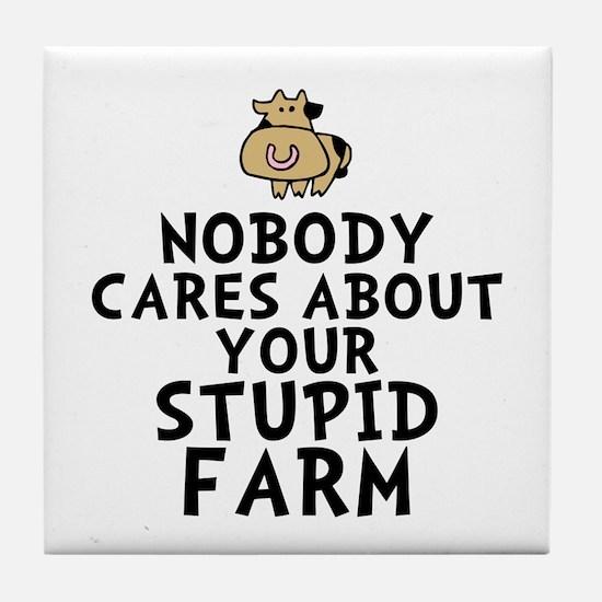 Stupid Farm - Cow Tile Coaster