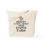 Stupid Farm - Cow Tote Bag