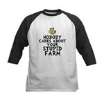 Stupid Farm - Cow Kids Baseball Jersey