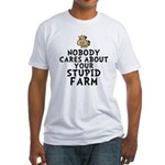 Stupid Farm - Cow Fitted T-Shirt