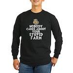 Stupid Farm - Cow Long Sleeve Dark T-Shirt