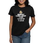 Stupid Farm - Cow Women's Dark T-Shirt