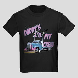 Daddy's L'il Pit Crew Kids Dark T-Shirt