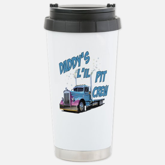 Daddy's L'il Pit Crew Stainless Steel Travel Mug
