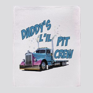 Daddy's L'il Pit Crew Throw Blanket