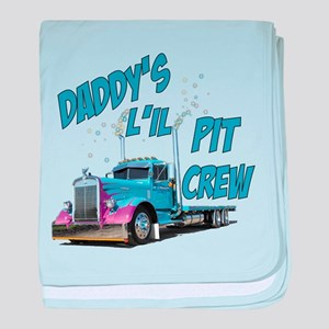 Daddy's L'il Pit Crew baby blanket