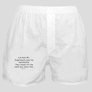 Experiment must be reproducib Boxer Shorts